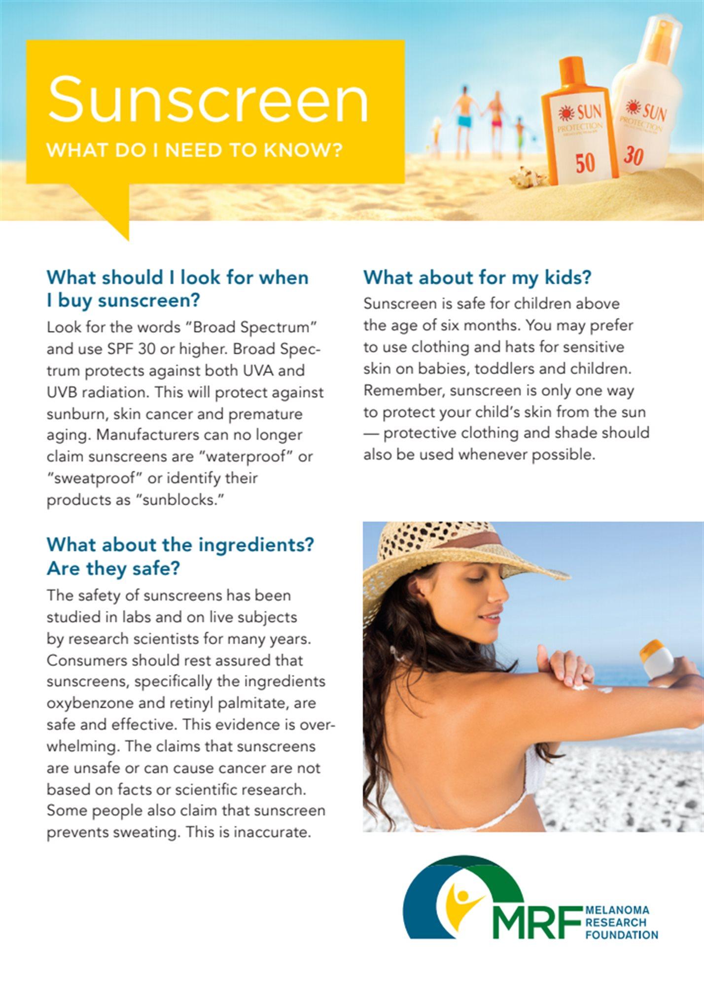 MRF s Sunscreen Postcard