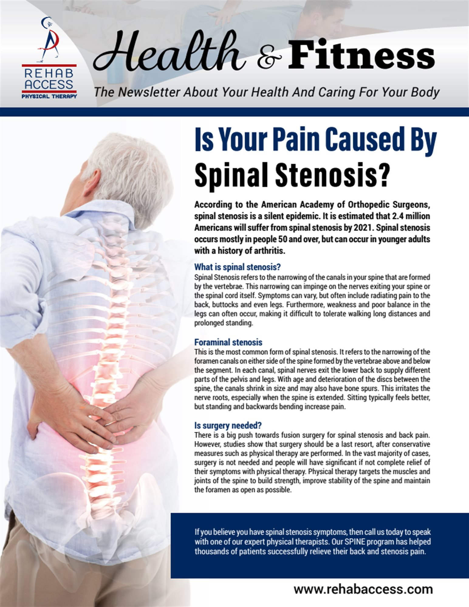 spinal stenosis essay 25th anniversary edition a publication of 992 about united spinal association our mission united spinal association is a national 501(c) (3) nonprofit membership.